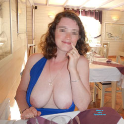 Holidays In France - Big Tits, Flashing, Public Exhibitionist, Public Place