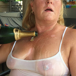 Wife Wanted To Cool Off - Big Tits, See Through, Wet, Wife/Wives
