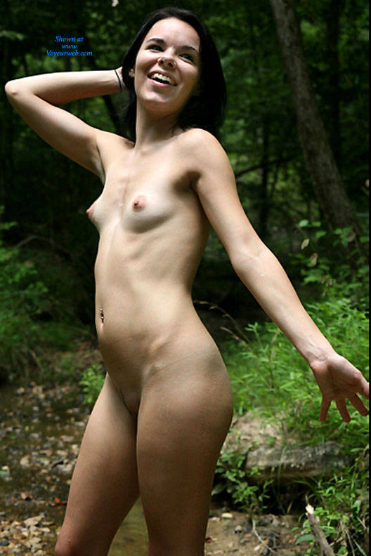 Pic #1 - Sand Along The Creek - Brunette Hair, Nude In Public, Sexy Ass , Sexy Brunette, Nude Chicks, Naked Girls, Brunette Slut
