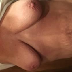 Very large tits of my wife - wild grandma