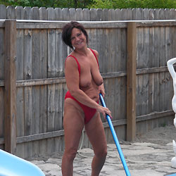 Pool Shots - Big Tits, Brunette, Mature