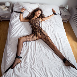 My First Contribution - Brunette, Lingerie