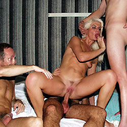 Coco In Gangbang On The Spa - Blonde, Blowjob, Group, Penetration Or Hardcore, Pussy Fucking
