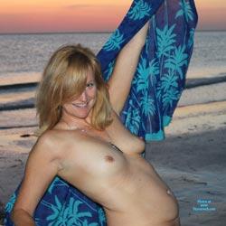 At Sunset - Beach, Big Tits