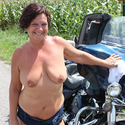 Out For A Bike Ride - Big Tits, Brunette, See Through