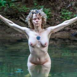 Playing In The Creek - Big Tits, Nature, Tattoos