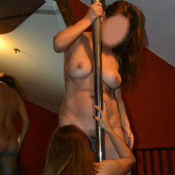Two Stripper Milfs - Big Tits, Brunette