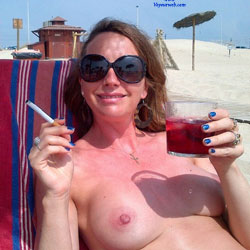 Marie On Vacation - Beach, Big Tits, Brunette