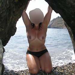 Again My French Wife At Beach - Beach, Big Tits, Wife/Wives