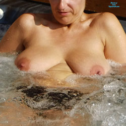 Wife In Jacuzzi - Big Tits, Topless Wives