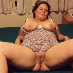 Very large tits of my wife - Femke