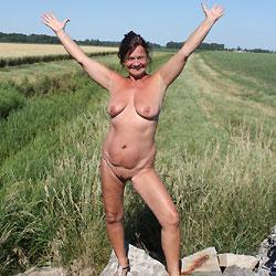 On The Road Again - Mature, Brunette, Big Tits, Striptease