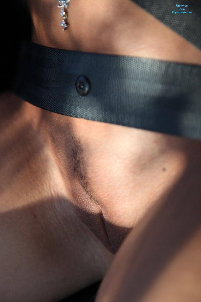 Pic #8 A Naked Day's Exploring - Brunette, Public Exhibitionist, Public Place