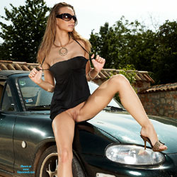 I Love My Old Car - High Heels Amateurs, Brunette, Big Tits, Shaved