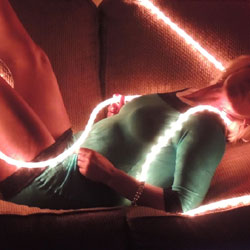 Hot Blonde In Rope Lights