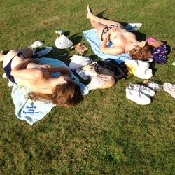 Topless In The Park - Voyeur