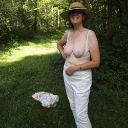 Summer Walk In The Woods - Big Tits, Mature, Nature