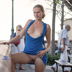 Bri NIP In France 2 - Flashing, Public Exhibitionist, Public Place, Shaved