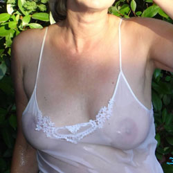 Topless In The Hot Tub! - Big Tits, Lingerie, See Through