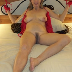 Red Outfit And Tied - Wives In Lingerie, Toys, Lingerie, Big Tits, Amateur, Bush Or Hairy