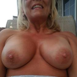 Very large tits of my wife - Betty