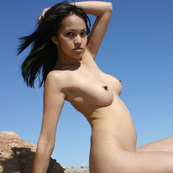Lake Mead Corset And Boots - Brunette Hair, Hairy Bush, Hard Nipple