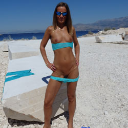 Nude Pucisca Wearing Sunglasses - Erect Nipples, Naked Outdoors, Nipples, Nude Outdoors, Shaved Pussy, Small Tits, Strip, Sexy Legs