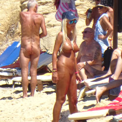 The Second Nude Skiathos  - Beach Voyeur, Big Tits, Blonde
