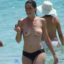 Europe - Posing And Preggo - Beach Voyeur, Big Tits