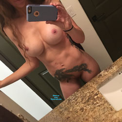 Another Night Alone - Big Tits, Brunette, Tattoos