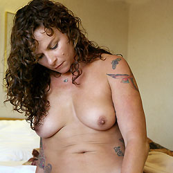 Mound Art And Toy - Big Tits, Brunette, Shaved, Tattoos