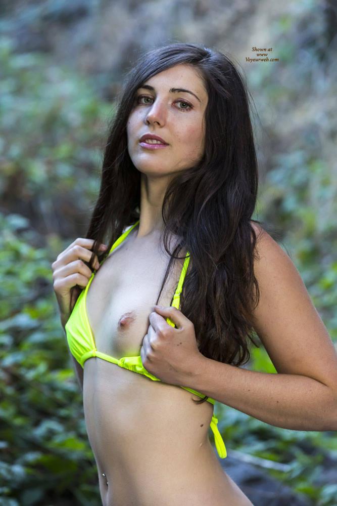 Pic #1 - Calif Woods - Nude In Public, Nude Outdoors , Naked, Brunette, Babe, Slut