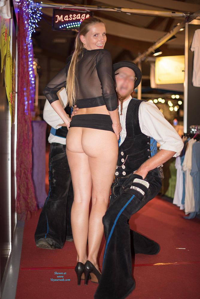 Pic #2 Bri On Erotic Fair - Long Legs, Public Exhibitionist, Public Place, Shaved