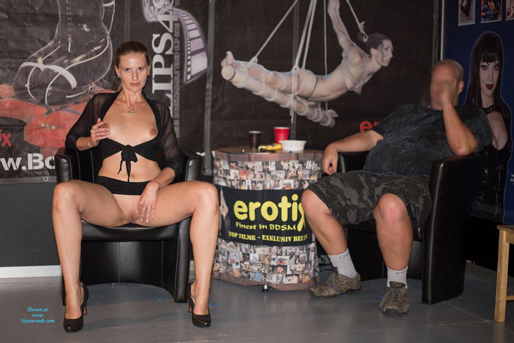 Pic #5 Bri On Erotic Fair - Long Legs, Public Exhibitionist, Public Place, Shaved
