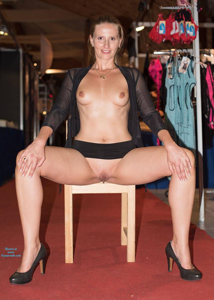 Pic #8 Bri On Erotic Fair - Long Legs, Public Exhibitionist, Public Place, Shaved