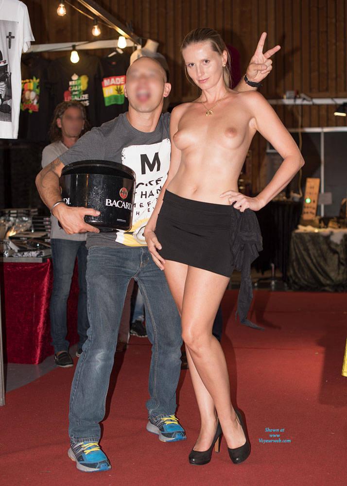 Pic #6 Bri On Erotic Fair - Long Legs, Public Exhibitionist, Public Place, Shaved