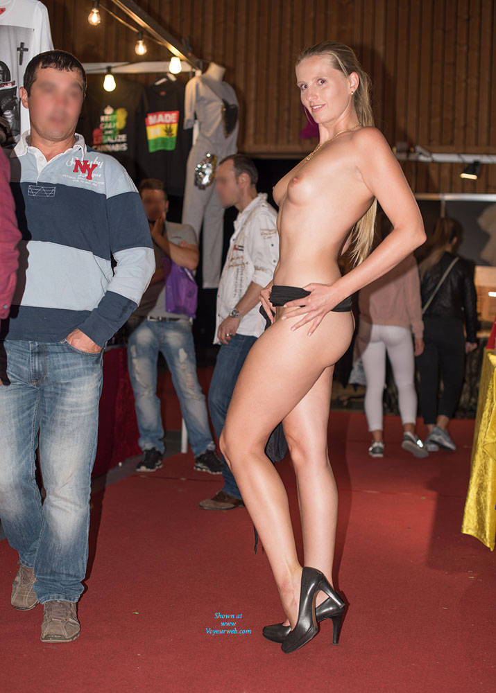Pic #9 Bri On Erotic Fair - Long Legs, Public Exhibitionist, Public Place, Shaved