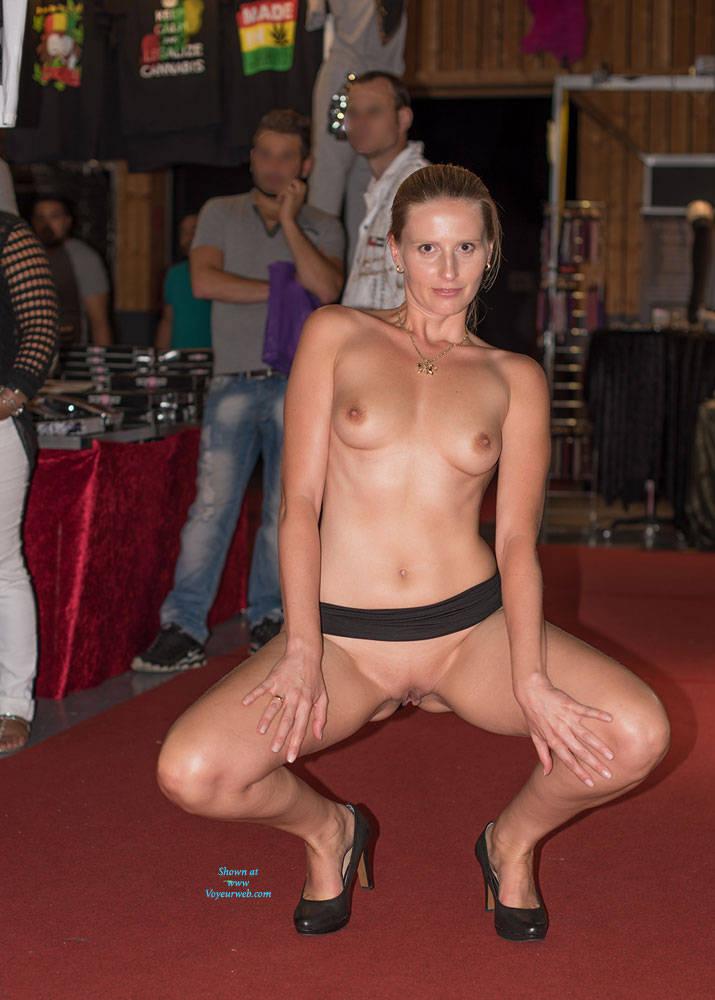 Pic #10 Bri On Erotic Fair - Long Legs, Public Exhibitionist, Public Place, Shaved