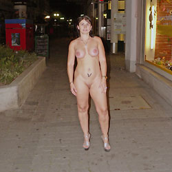 I Always Like To Go Nude 2 - Big Tits, Brunette, Public Exhibitionist, Public Place