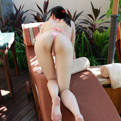 Asian Wife In Skimpy Bikini - Shaved, Outdoors, Wife/Wives