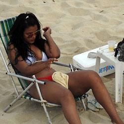 Delicious Asses From Recife City, Brazil - Beach Voyeur, Bikini Voyeur, Brunette, Outdoors