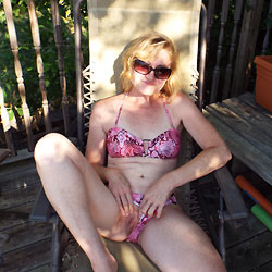 Candy Show Off For The Neighbor - Outdoors