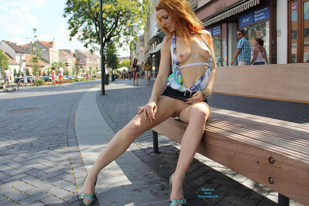Pic #6 Vienna - Hungarian Summer - Redhead, Public Place, Public Exhibitionist, Flashing, Shaved