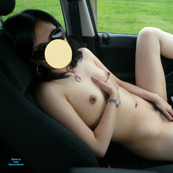 Asian Wife Exposing In Car - Wife/Wives, Bush Or Hairy