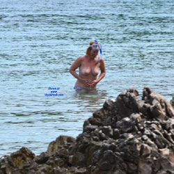 Turist In Croatia - Outdoors, Beach Voyeur, Topless Girls
