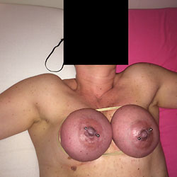Breasts Turn Purple - Big Tits, Body Piercings