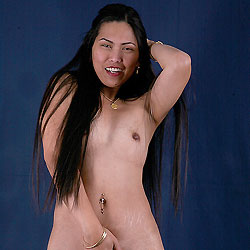 Long Hair Nude Asian - Asian Girl, Brunette Hair, Erect Nipples, Full Frontal Nudity, Heels, Long Hair, Nipples, Sexy Legs