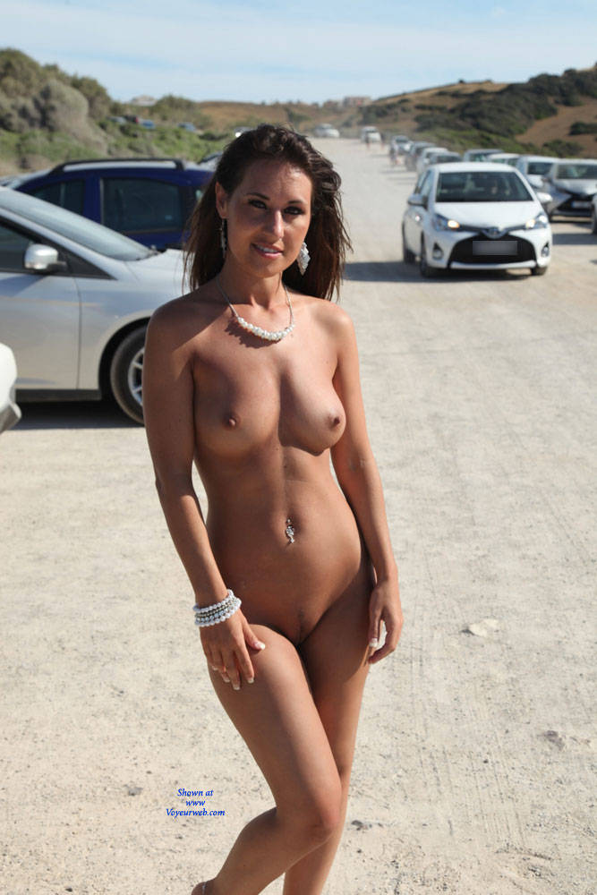 Naked Brunette In The Street - Big Tits, Brunette Hair, Erect Nipples, Exposed In Public, Full Nude, Nipples, Nude In Public, Perfect Tits, Trimmed Pussy, Sexy Girl, Sexy Legs , Brunette, Strett, Nude, Naked