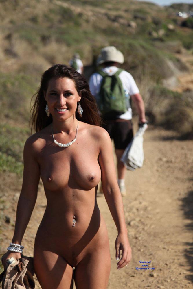 Pic #4 Naked Day Exploring Part 2 - Big Tits, Brunette, Public Exhibitionist, Public Place