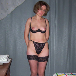 Ewa's Black Lingerie - Mature, Lingerie, Wives In Lingerie